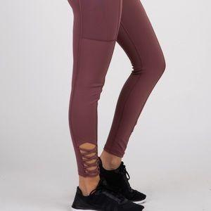 Pinkblush burgundy maternity leggings S